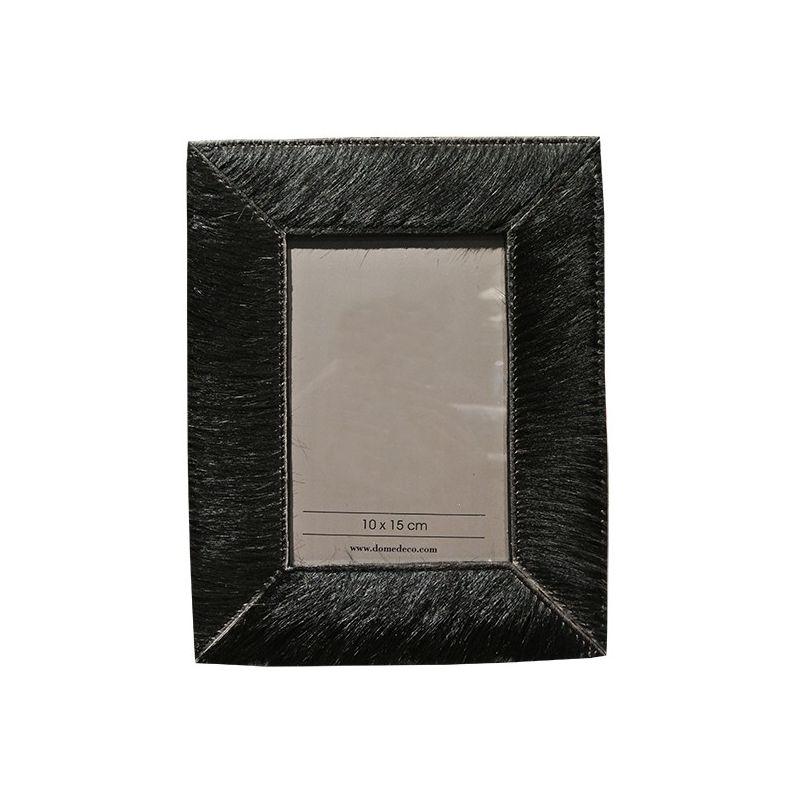 cadre photo rectangulaire en peau de vache. Black Bedroom Furniture Sets. Home Design Ideas