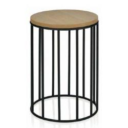 Chevet en vieux bois massif - Table de chevet bois et metal ...