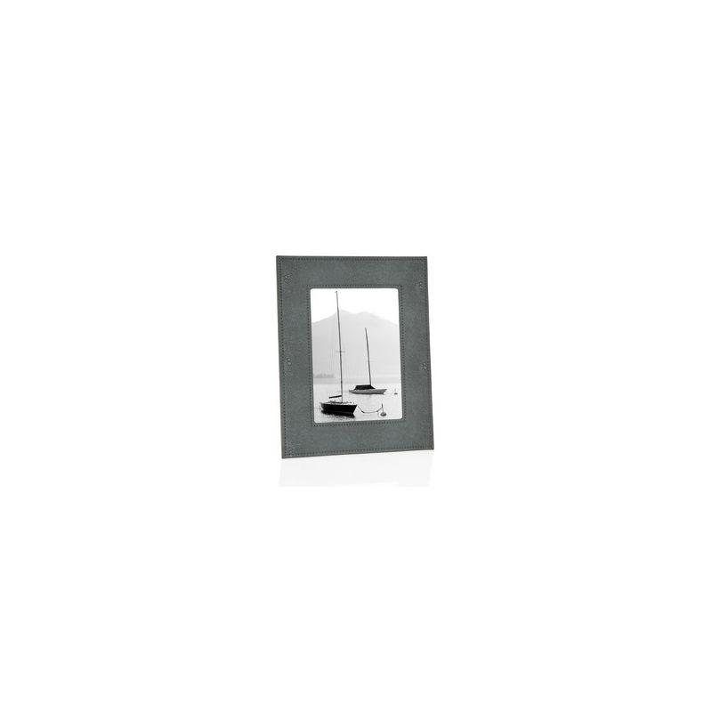 cadre photo shagreen gris gm. Black Bedroom Furniture Sets. Home Design Ideas