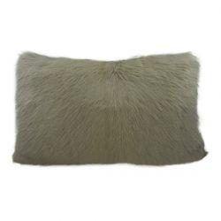 Coussin en peau de chèvre gris 30x50