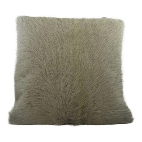 coussin en peau de ch vre gris 40 40. Black Bedroom Furniture Sets. Home Design Ideas