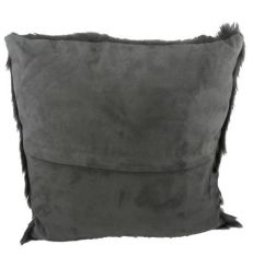 Coussin chèvre anthracite 40x40