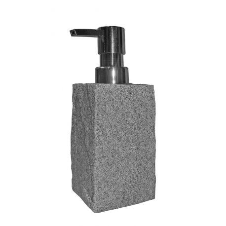 Distributeur savon pierre grise