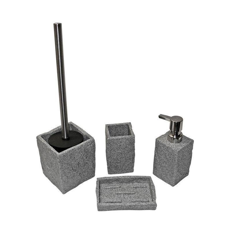 Porte savon pierre grise for Accessoire salle de bain porte savon