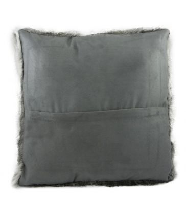 Coussin en peau de lapin gris simple face 40*40