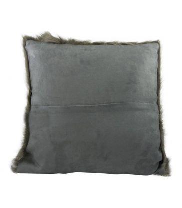 Coussin en peau de chèvre gris 40*40