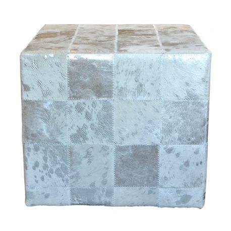 pouf en peau style chalet montagne tabouret le galetas. Black Bedroom Furniture Sets. Home Design Ideas