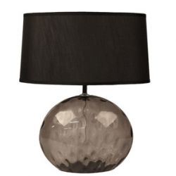 Lampe en verre gris avec abat-jour