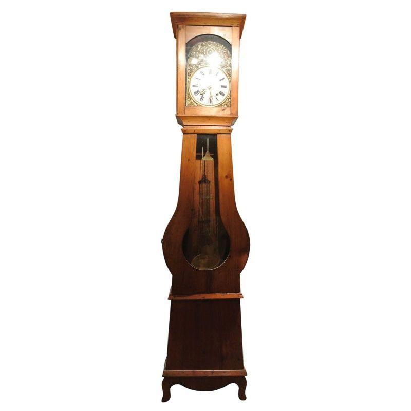 horloge ancienne comtoise en bois et cuivre antiquit. Black Bedroom Furniture Sets. Home Design Ideas