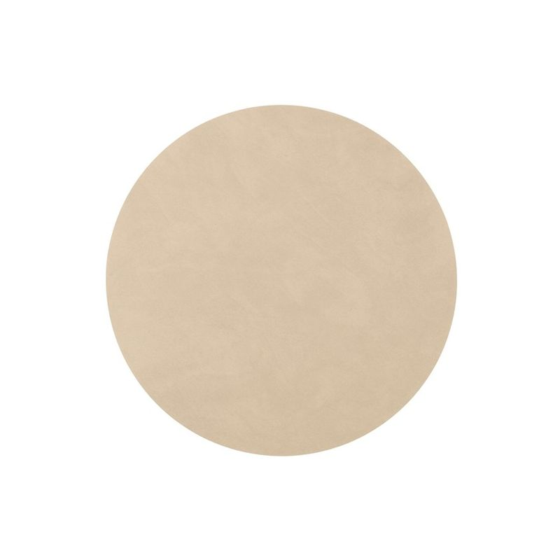Set de table rond en cuir couleur taupe Set de table a personnaliser