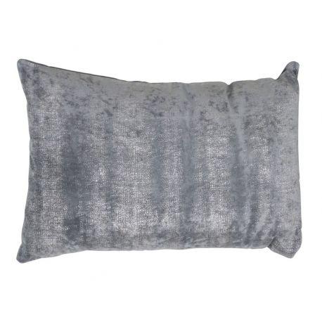 Coussin gris argent 40*60