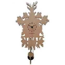 Horloge murale bouleau