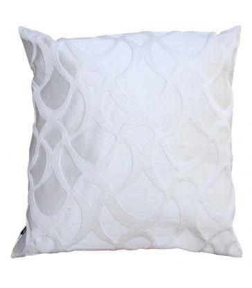 Coussin blanc satiné 50x50