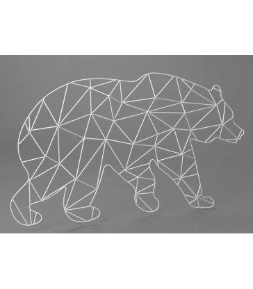 Ours en métal blanc