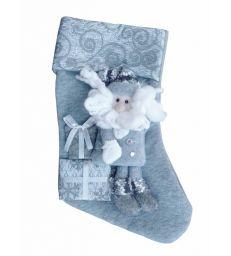 Chaussette grise Père Noël