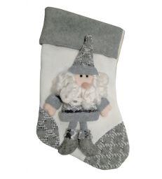 Chaussette blanche Père Noël
