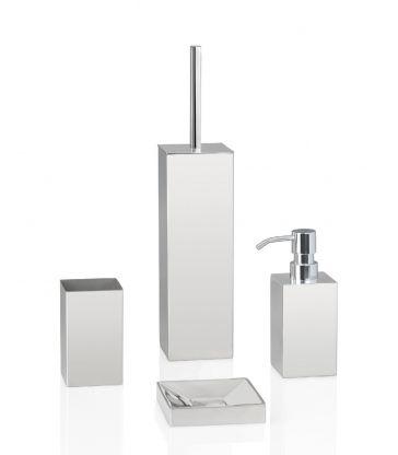 Brosse WC inox carrée