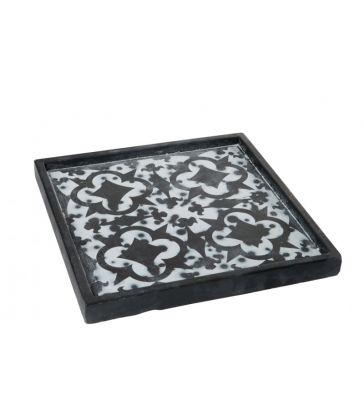 Plateau orient ciment noir 30x30