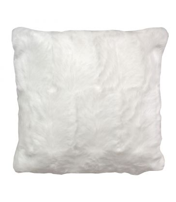 Coussin blanc fausse fourrure 40*40