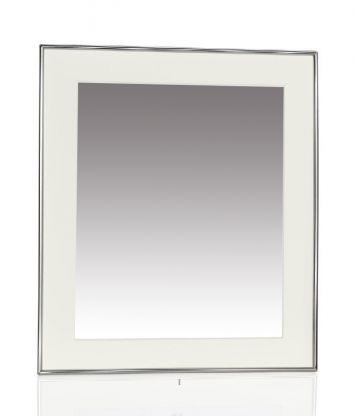 Cadre photo blanc argent 9x14