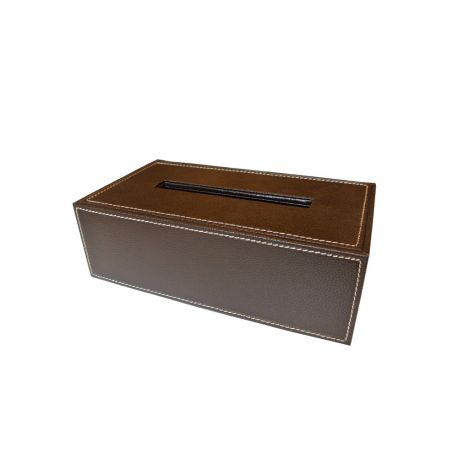 Boîte à mouchoirs simili cuir
