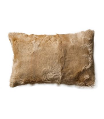 Coussin chèvre taupe 30x50