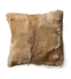 Coussin chèvre taupe 40x40