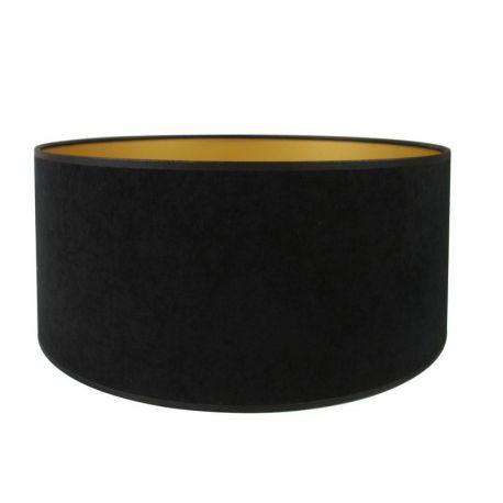 Abat-jour tambour velour noir doré 35*32*16