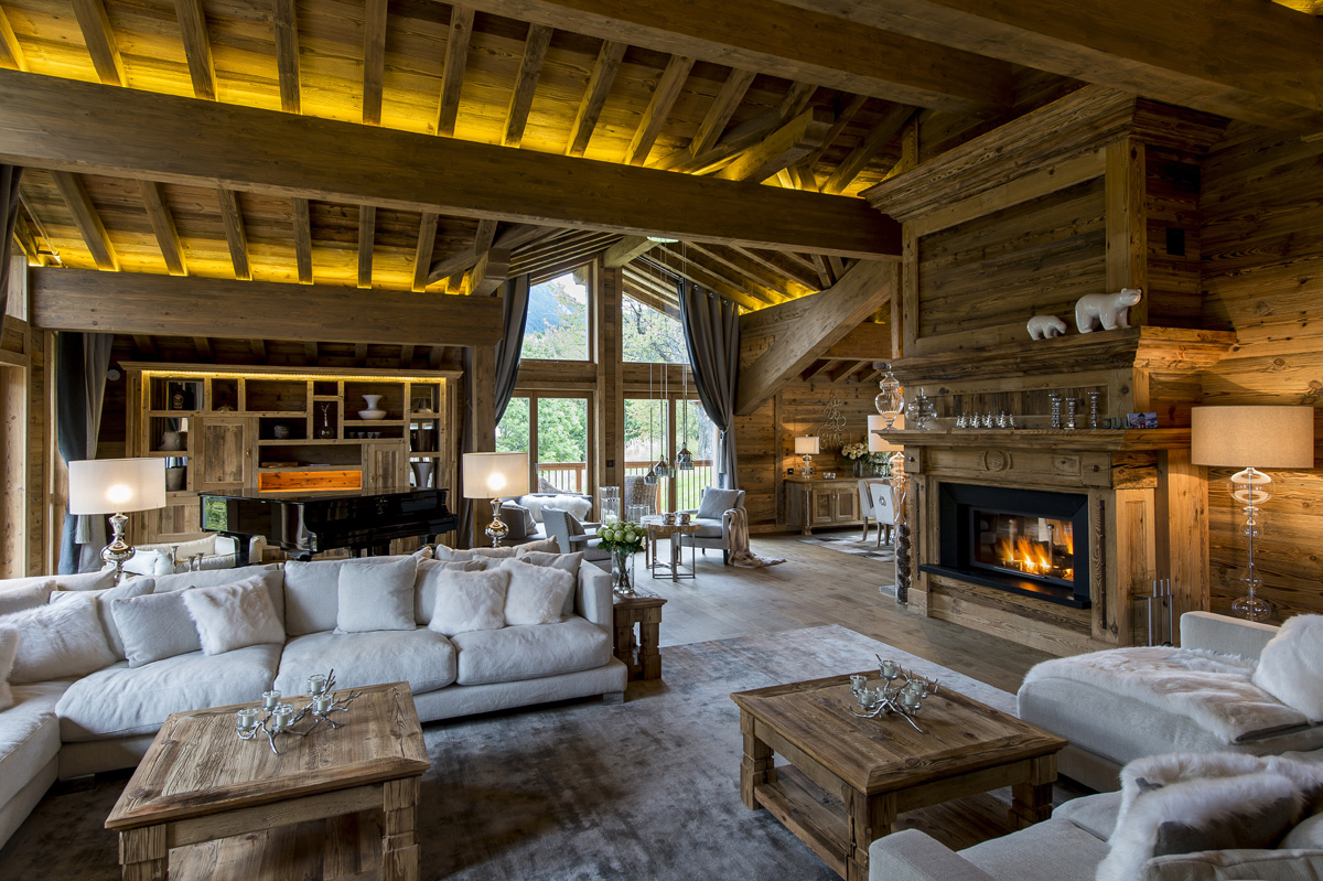 D coration chalet le galetas for Decoration de chalet