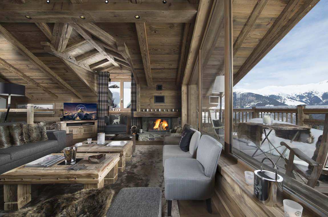 Chalet Interieur. Trendy Cuisine Minimaliste Quipe Chalet De Ski ...