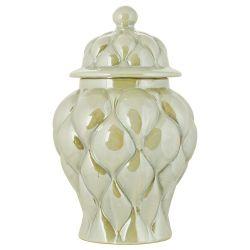 Pot en céramique beige nacré