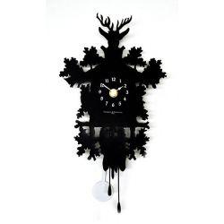 Horloge murale métal noir