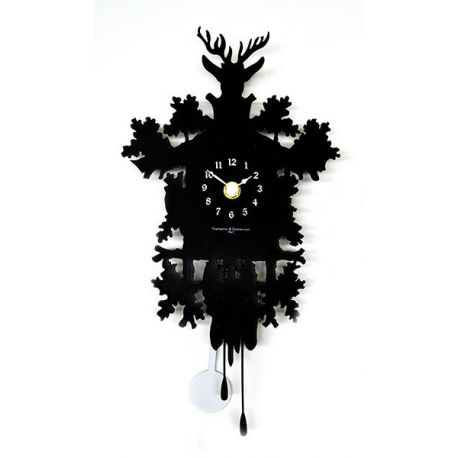 Horloge murale mignon noir