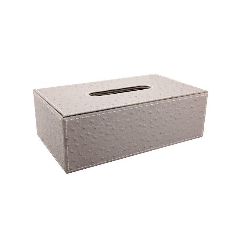 Boîte à mouchoirs aspect autruche taupe