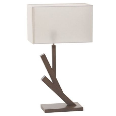 Lampe Timber avec abat-jour gris beige