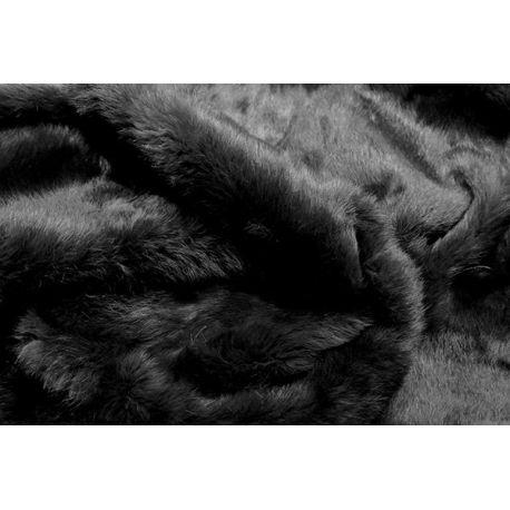 Plaid peau de lapin noir 140*180