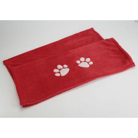 Plaid rouge chien