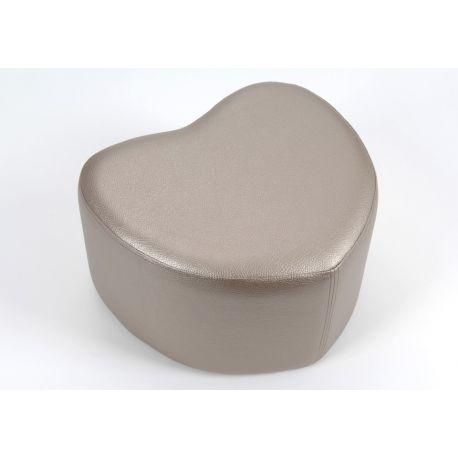 Pouf coeur bronze