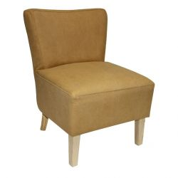 Fauteuil jaune curry