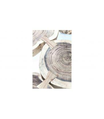 Table basse acacia rondin 97x65