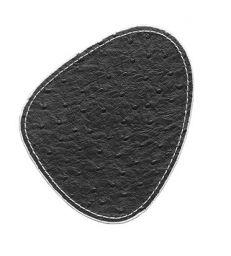 Sous-verre aspect autruche blanc et noir