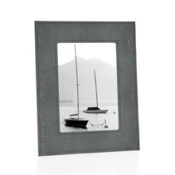 Cadre photo Shagreen gris gm