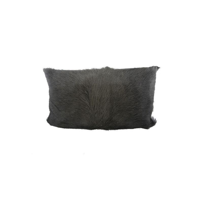 coussin en peau de ch vre anthracite 30x50. Black Bedroom Furniture Sets. Home Design Ideas