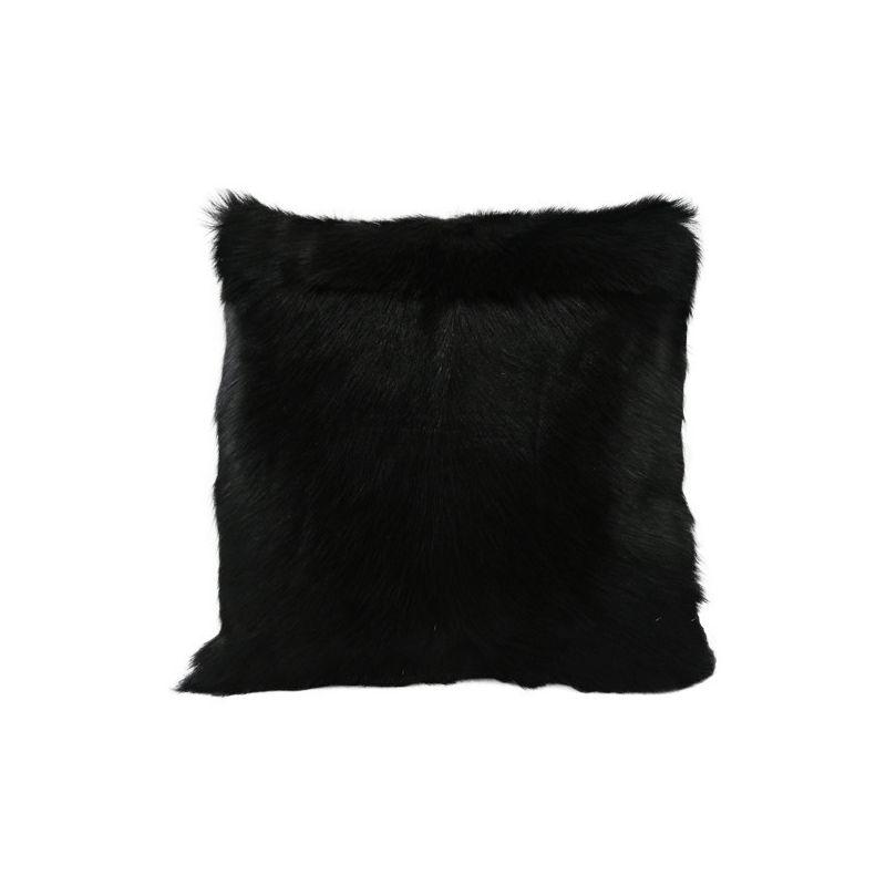 coussin ch vre noire 40x40. Black Bedroom Furniture Sets. Home Design Ideas