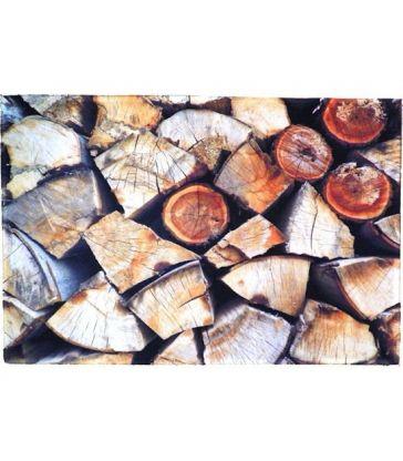 Tapis de cuisine bois de cheminée