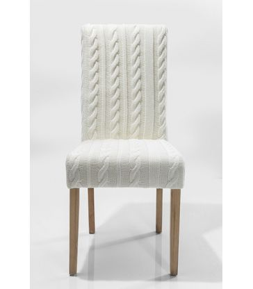 Chaise maille blanche