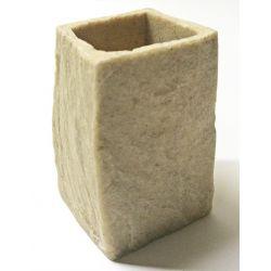 Porte brosse à dent pierre beige