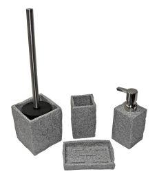 Porte savon pierre grise