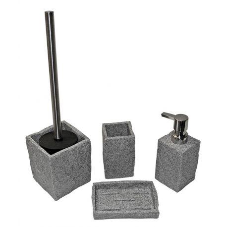 Porte brosse à dent pierre grise