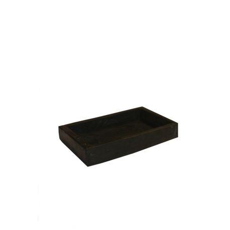 Porte savon ardoise noire